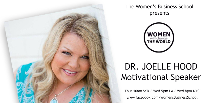 Women will change the World: Dr Joelle Hood
