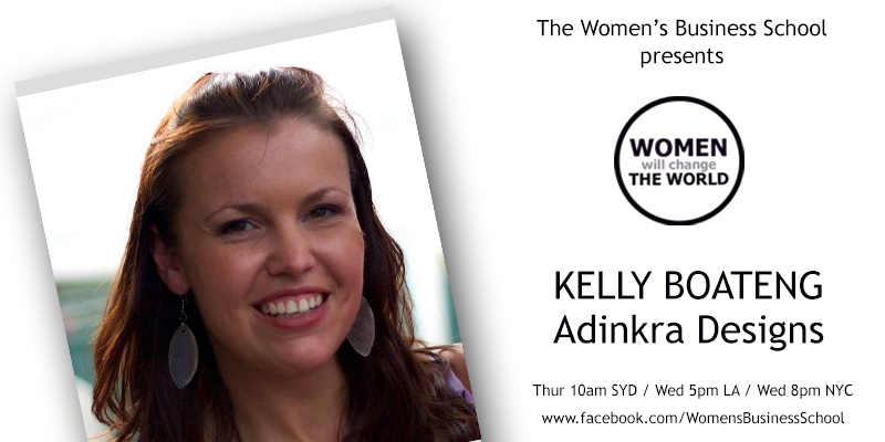 Women will change the World: Kelly Boateng, Adinkra Designs